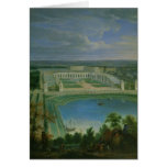 The Orangery and the Chateau at Versailles, 1696 Greeting Card