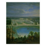 The Orangery and the Chateau at Versailles, 1696 Poster