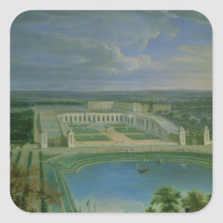 The Orangery and the Chateau at Versailles, 1696 Square Sticker