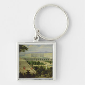 The Orangery at Versailles Silver-Colored Square Keychain