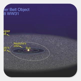 The orbit of the binary Kuiper Belt object Square Sticker
