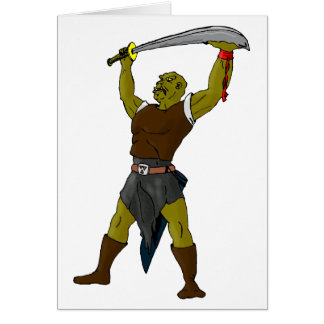 The Orc Greeting Card