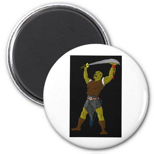 The Orc Fridge Magnet