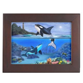 The Orca Family and the Dolphin Family Keepsake Box