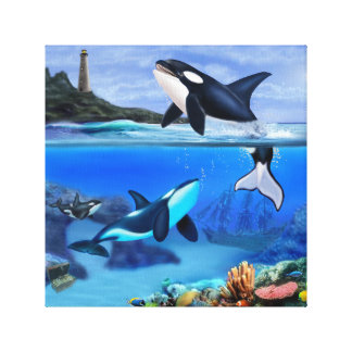 The Orca Family Canvas Print