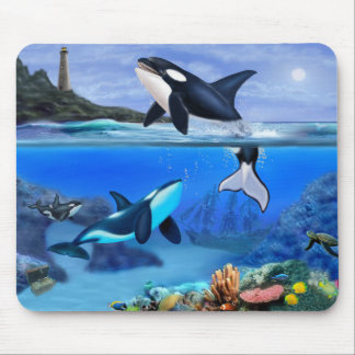 The Orca Family Mouse Pad