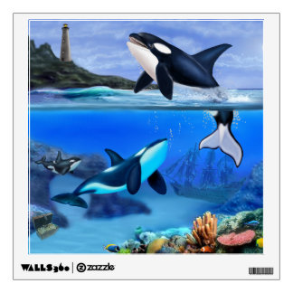 The Orca Family Wall Decal