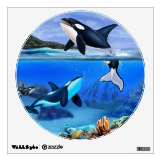 The Orca Family Wall Sticker