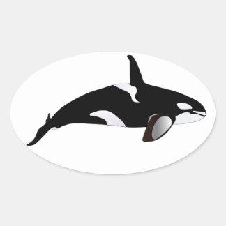 THE ORCA GRACE OVAL STICKER