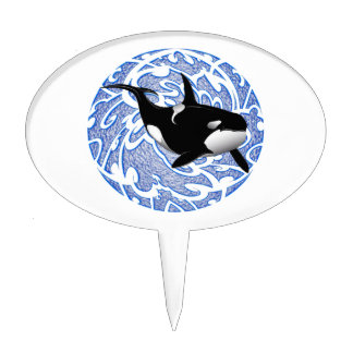 THE ORCAS LOVE CAKE TOPPER