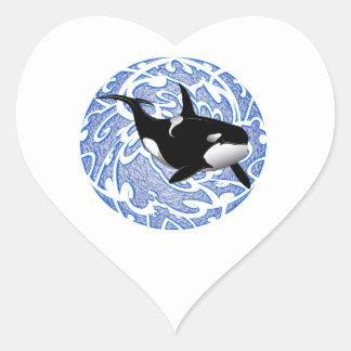 THE ORCAS LOVE HEART STICKER
