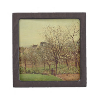 The Orchard, 1870 (oil on canvas) Keepsake Box