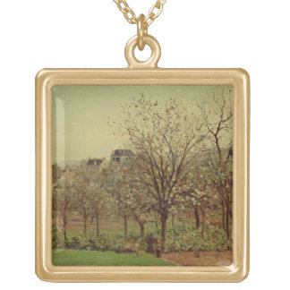 The Orchard, 1870 (oil on canvas) Personalized Necklace