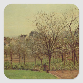The Orchard, 1870 (oil on canvas) Square Sticker
