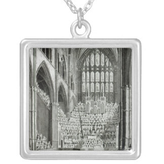 The Orchestra and Performers in Westminster Silver Plated Necklace