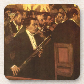 The Orchestra of Opera by Edgar Degas, Vintage Art Beverage Coaster