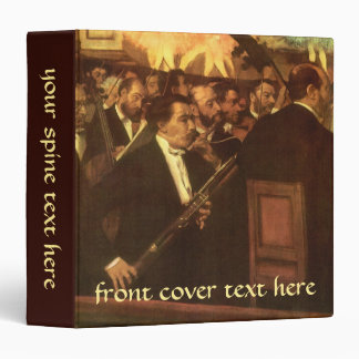 The Orchestra of Opera by Edgar Degas, Vintage Art Binder