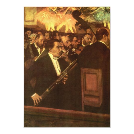 The Orchestra of Opera by Edgar Degas, Vintage Art Card