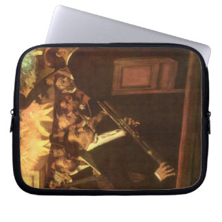 The Orchestra of Opera by Edgar Degas, Vintage Art Computer Sleeve