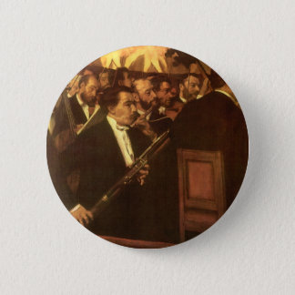 The Orchestra of Opera by Edgar Degas, Vintage Art Pinback Button