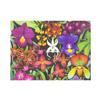 The Orchid Garden Wrapped Canvas