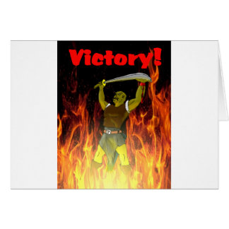The Orcs Victory Greeting Card