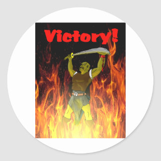 The Orcs Victory Classic Round Sticker