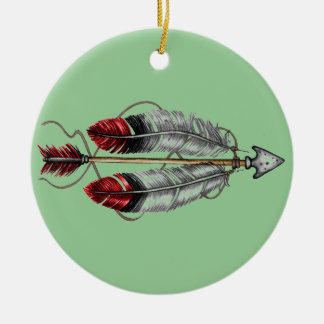 The Order of the Arrow Double-Sided Ceramic Round Christmas Ornament