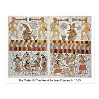 The Order Of The World By Arab Painters In 1565 Postcard