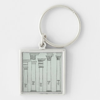 The Orders of Architecture Keychain