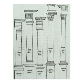 The Orders of Architecture Postcard
