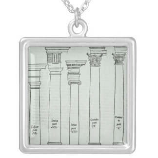 The Orders of Architecture Silver Plated Necklace