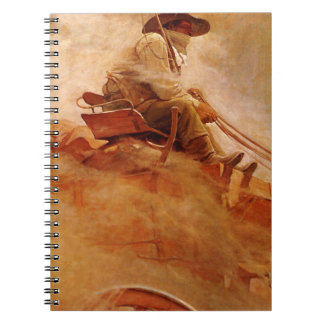 The Ore Wagon by NC Wyeth Vintage Cowboys Spiral Note Book