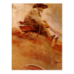 The Ore Wagon by NC Wyeth, Vintage Cowboys Postcard