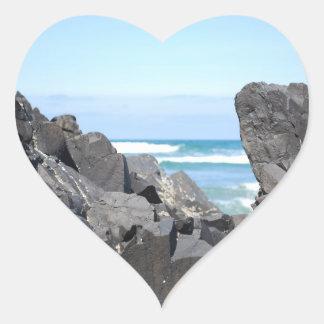 The Oregon Coast Heart Sticker