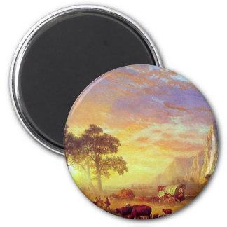 The Oregon Trail - Albert Bierstadt 2 Inch Round Magnet