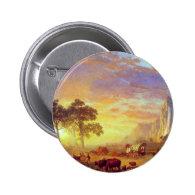 The Oregon Trail,  Albert Bierstadt Button
