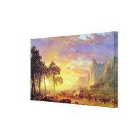 The Oregon Trail - Albert Bierstadt Stretched Canvas Prints