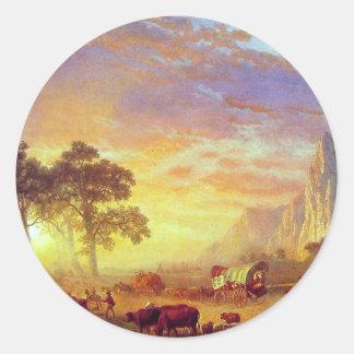 The Oregon Trail,  Albert Bierstadt Classic Round Sticker