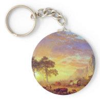 The Oregon Trail,  Albert Bierstadt Keychain
