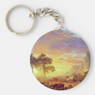 The Oregon Trail,  Albert Bierstadt Keychain