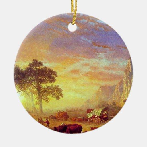 The Oregon Trail - Albert Bierstadt Ornament