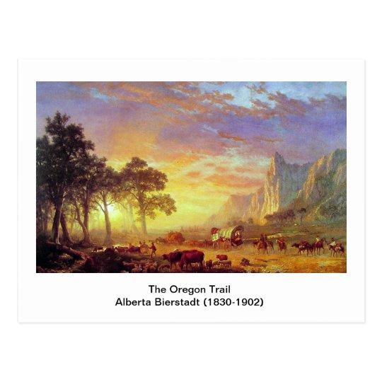 The Oregon Trail,  Albert Bierstadt Postcard