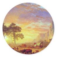 The Oregon Trail,  Albert Bierstadt Round Stickers