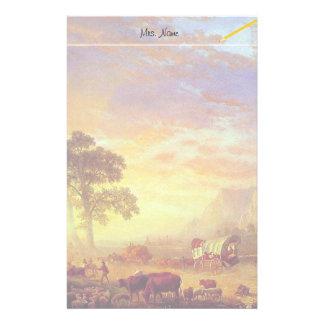 The Oregon Trail - Albert Bierstadt Stationery