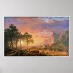 The Oregon Trail by Albert Bierstadt 1869 Poster