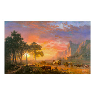 The Oregon Trail, by Albert Bierstadt Poster