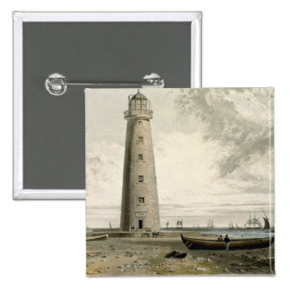 The Orford Nefs Lighthouses, Suffolk, from Volume 2 Inch Square Button