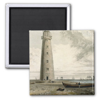 The Orford Nefs Lighthouses, Suffolk, from Volume 2 Inch Square Magnet