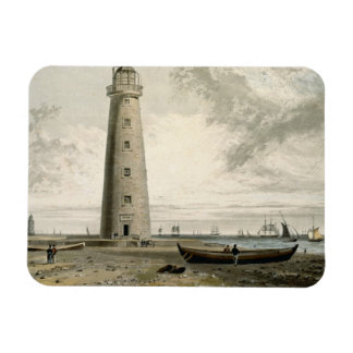 The Orford Nefs Lighthouses, Suffolk, from Volume Rectangular Photo Magnet